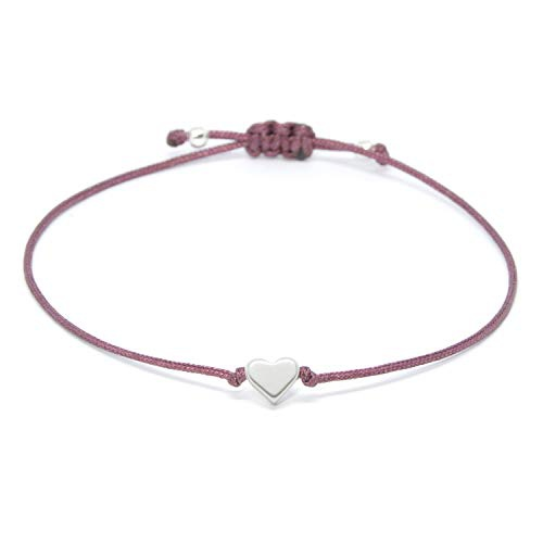 Herz Armband Silber - Beere