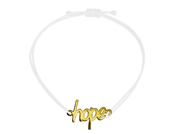 Hope Armband Gold - Weiß