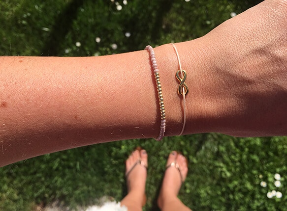 Infinity Armband Set in der Farbe GOLD